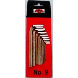 Set of hexagone keys 39