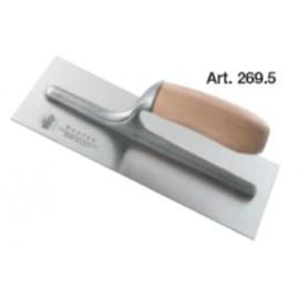 Steel blade plastering trowel